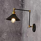 Black Wall Wash Lights Gooseneck Retro Wall Lighting Fixtures Wall Sconces with Plug in Cord and on Off Toggle Switch for Bedroom Nightstand Barn Warehouse