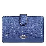 [コーチ] COACH 財布 (二つ折り財布) F23256 メタリックネイビー レザー 二つ折り財布 レディース [アウトレット品] [並行輸入品]