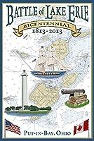 put-in-bay、オハイオ州–Battle Of Lake Erie Nautical Chart 16 x 24 Signed Art Print LANT-46747-709