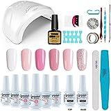 Vishine Gel Nail Polish Starter Kit with 48W SUNOne UV LED Nail Lamp Speed Dryer Manicure Tools 6 Pretty Colors Gel Polish Ba
