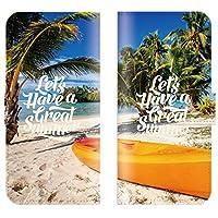 【 ankh 】 手帳型ケース 全機種対応 【 GALAXY S2 SC-02C ギャラクシー S2 SC-02C専用 】 おしゃれ ハワイアン ハワイ 夏 海 パームツリー 西海岸 海外 ブック型 二つ折り レザー 手帳カバー スマホケース スマートフォン
