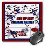 3drose LLC 8?x 8?x 0.25インチ4th of July Celebrate America Flag Stars and Firecrackersマウスパッド( MP _ 20170?_ 1?)