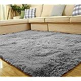 PANO ラグ カーペット ラグマット 洗える 滑り止め付 極細繊維仕様 グレー 100*160cm