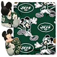 The Northwest Company NFL New York Jets Mickey Mouse Pillow with Fleece Throw Blanket Set [並行輸入品]