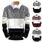 (SGL Collection) セーター メンズ ニットセーター 長袖 デザイン アラン編み模様 ラウンドネック スリムフィット 3色選択 サイズ S ~ XL 【 日本向け オリジナル サイズ仕様 】