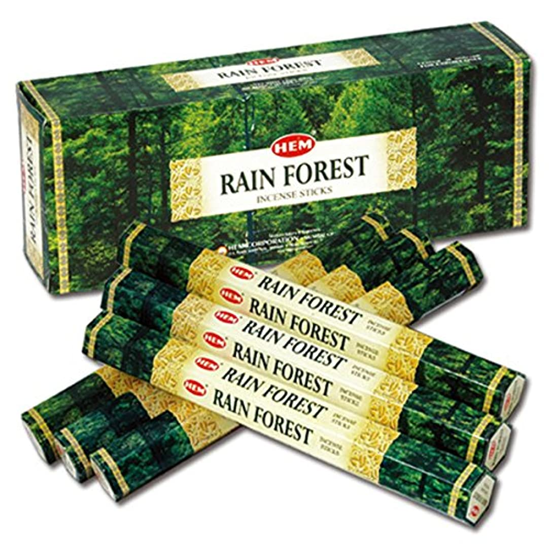 ぴかぴか何か乳製品HEM(ヘム) レインフォレスト RAIN FOREST スティックタイプ お香 6筒 セット [並行輸入品]