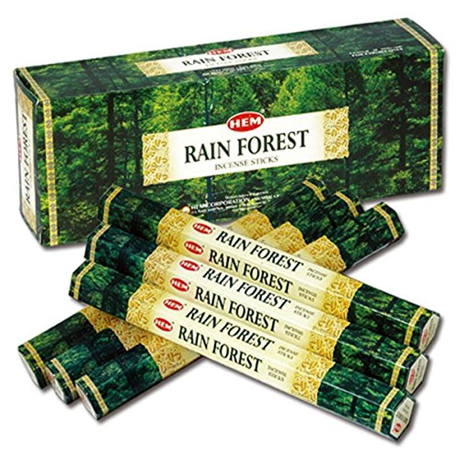 牧草地表向き塩辛いHEM(ヘム) レインフォレスト RAIN FOREST スティックタイプ お香 6筒 セット [並行輸入品]