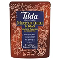 ティルダ蒸しバスマティピント豆とチリの250グラム - Tilda Steamed Basmati Pinto Bean and Chilli 250g [並行輸入品]