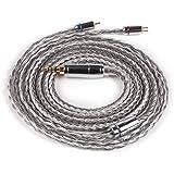 KB4878 リケーブル 2pin 銀メッキケーブル 16芯 2.5mm 4極 バランス イヤホン ケーブル バランス接続 2.5mm ケーブル(2pin・2.5mm)