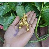 Brass Makhan Chor Laddoo Gopal Baby Krishna Kishan Thakurji Murti Statue ~ Infant Rare Lord Bal Gopal Religious Strength God