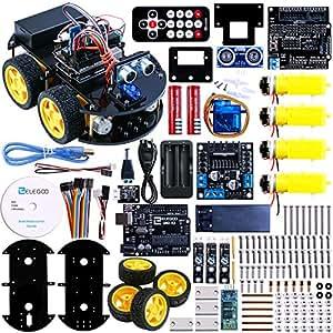 Elegoo ArduinoのロボットカーV1.0 四輪駆動車、全年齢対象、UNO R3 電子おもちゃ