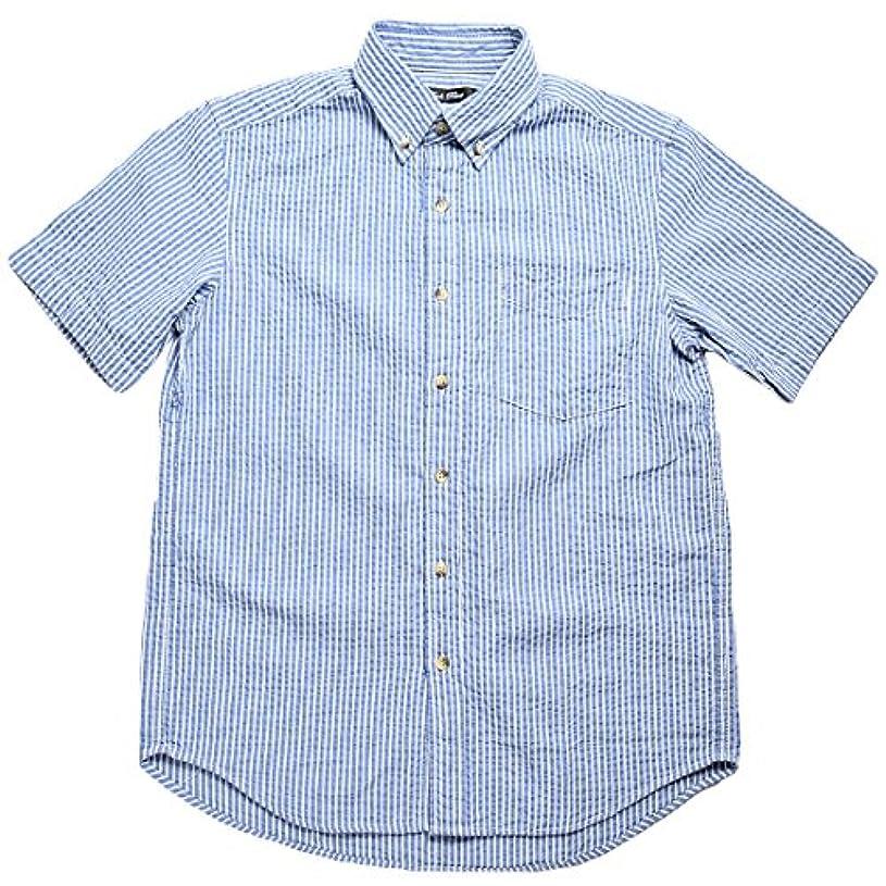 黙アヒルうま(スーツビート) SUIT BEAT メンズ カジュアルシャツ 半袖 ボタンダウン ストライプ チェック 全3種