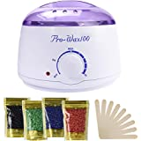 Ausale Wax Warmer Heater, Portable Electric Hair Removal Kit for Facial &Bikini Area& Armpit-- Melting Pot Hot Wax Heater acc