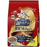 (まとめ買い)ユニ・チャーム 銀のスプーン 贅沢うまみ仕立て お魚づくし 1.5kg 猫用 【×3】