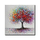 Asmork 100%手書きアートポスター 絵画 モダン アートパネル 絵画 インテリア 油画 風景画 壁掛け 30*30cm (1)