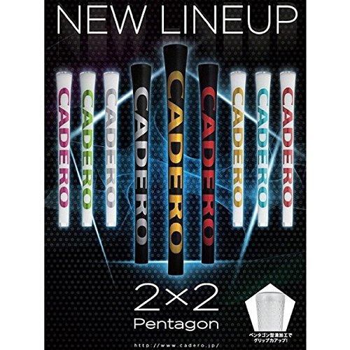 CADERO(カデロ) グリップ 2X2 Pentagon AIR 2X2 Pentagon AIR 黒/ゴールド バックライン無