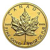 【メイプルリーフ 金貨】 メイプル 純金 99.99% 1/10 オンス カナダ王室造幣局発行 3.11gの純金コイン 保証書付き (¥ 22,380)