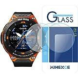 (3枚) Casio WSD-F20 保護フィルム,MIHENCE 9H ガラス保護フィルム 対応 Casio WSD-F20 / F20A スマート腕時計 2.5Dラウンドエッジ ウォッチ指紋防止保護膜