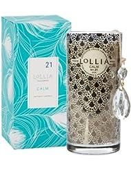 ロリア(LoLLIA) プティパフュームドルミナリー290g Calm(チャーム付キャンドル アイリス、シトラス、ヒヤシンスのクリーン&フレッシュな香り)