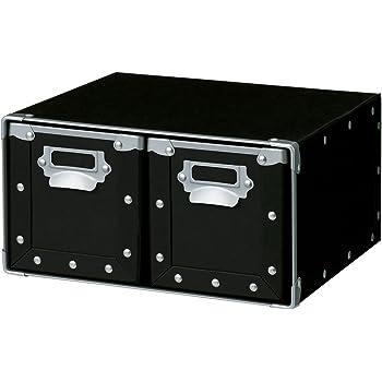 cf975b2913e7 Amazon   ナカバヤシ 収納ボックス ストックボックス フタ付き SSサイズ ...