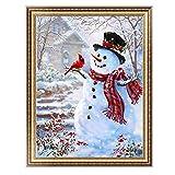 Techinal 5dダイヤモンド絵画ホーム装飾クリスマス雪だるま刺繍DIYクロスステッチ