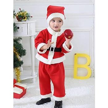 fc3804287e102 BQuel サンタクロース コスチューム ベビー 着ぐるみ 赤ちゃん 男の子 女の子 子供服 クリスマス 衣装 キッズ コスプレ 仮装 変装