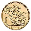 新品未使用 2017 イギリス グレートブリテン ソブリン金貨 1ソブリン 200周年記念