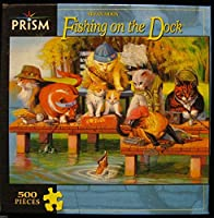 PRISM BRYAN MOON CATS FISHING ON THE DOCK 500 PIECE JIGSAW PUZZLE 2007 R-37 [並行輸入品]