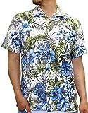 ROUSHATTE(ルーシャット) アロハシャツ コットン 裏使い 総柄プリントシャツ ホワイト S