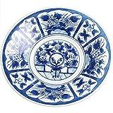 プレート 皿 : 波佐見焼 芙蓉手 VOC 皿立付 軽々 8寸 皿