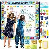 Apsung Extra Large Aqua Doodle Mat,100 x 100 cm Extra Large Water Drawing Doodling Mat Coloring Mat Educational Toys Gifts fo