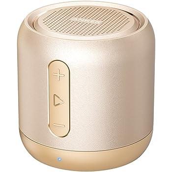 Anker SoundCore mini コンパクト Bluetoothスピーカー 【15時間連続再生 / 内蔵マイク搭載/micro SDカード & FMラジオ対応】 (ゴールド)