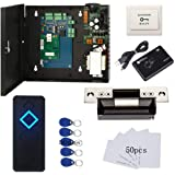 Complete TCP/IP Network Single Door Access Control Board System Kits with 110-240V Metal Power Supply Box + Electric ANSI Str