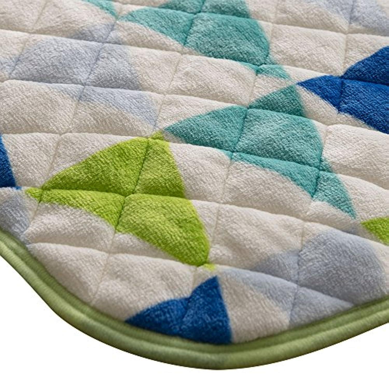 敷き布団 セミダブル 敷き毛布 敷きパッド マイクロファイバー 静電気防止 ウォッシャブル フラッググリーン