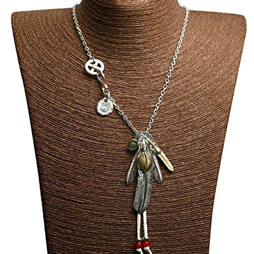 高桥吾郎 goro's(ゴローズ) 羽根の組み合わせ フェザーセット 925銀 インディアンのスタイル 日本風潮手作業...