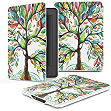 Kindle Paperwhite Case for Kindle All-New Paperwhite Thinnest and Lightest PU Leather Cover with Auto Wake/Sleep for Amazon Kindle (Lucky Tree)