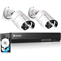 【最新AI人体感知・500万超高画素】YESKAMO 防犯カメラ 屋外 PoE給電 人感発光 監視カメラ音声警報 録音…