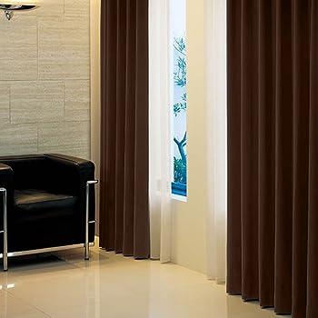 窓美人 アラカルト 1級遮光カーテン 2枚組 幅100×丈190cm ビターチョコレート 断熱・遮熱・防音 高級フルダル生地
