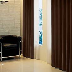 窓美人 アラカルト 1級遮光カーテン ビターチョコレート 幅100×丈178cm 2枚組 フック タッセル 断熱 省エネ 高級感のある生地