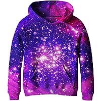 SAYM Girls' Galaxy Fleece Sweatshirts Pocket Pullover Hoodie