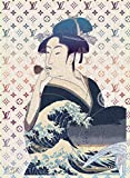 ルイ・ヴィトン STAR DESIGN #sh25 歌麿&北斎 Louis Vuitton ルイヴィトン オマージュアートポスター A1サイズ(594×841mm)