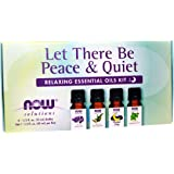 Now Foods Let There Be Peace and Quiet, Relaxing Essential Oils Kit, Bottles, 10ml (Pack of 4)