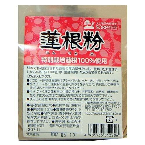 創健社 特別栽培蓮根100%使用 蓮根粉 100g ×10セット