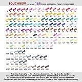 Touchnew 水彩毛筆 マーカーペン  ダブルペン先/ツイン先 +A4ドローイングブック+Parblo 2本の指グローブ+ペンシルバッグ (168色)