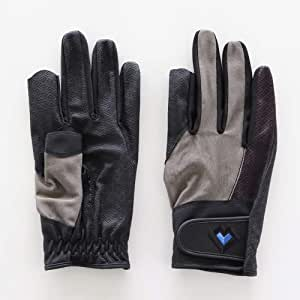 レガン グラウンドゴルフ用手袋 スタンダードモデル 紳士用 両手組 (グレー, M)
