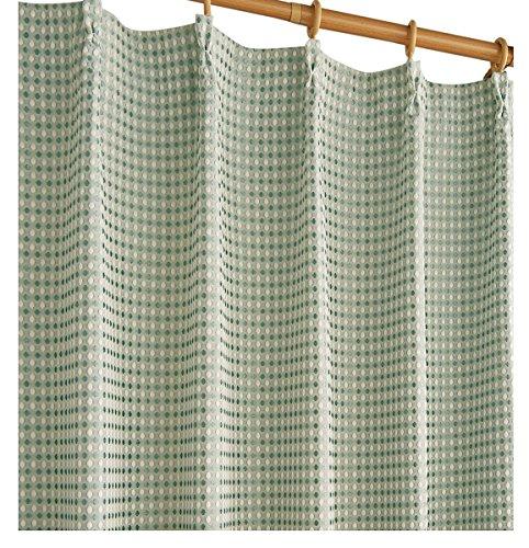 セシール cecile カーテン 遮光裏地付きワッフルカーテン ペールブルー 100*135 CP-479CP-479