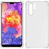 TIYA Case Clear for Huawei P30 Pro TPU Four Corners Cover Transparent Soft
