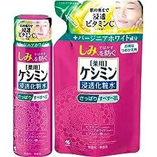 【まとめ買い】ケシミン浸透化粧水 しっとりもちもち シミを防ぐ 160ml +  詰め替え用  140ml