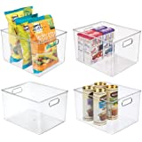 mDesign Plastic Storage Organizer Container Bins Holders with Handles - for Kitchen, Pantry, Cabinet, Fridge/Freezer - Large