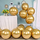 kenandtom Chrome Metallic Balloons for Party 50 pcs 12 inch Thick Latex Balloons for Birthday Wedding Engagement Anniversary